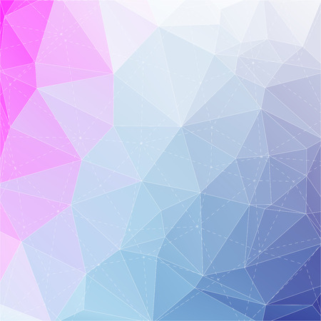 Abstract triangle mosaic gradient colorful background with dotted line structure 向量圖像