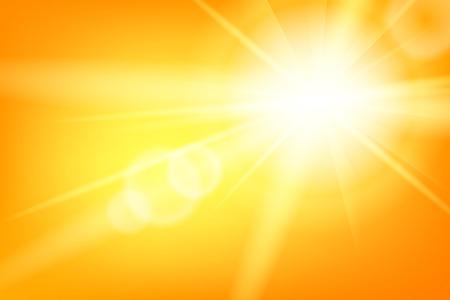 태양과 bokeh와 자연 화창한 추상 여름 배경
