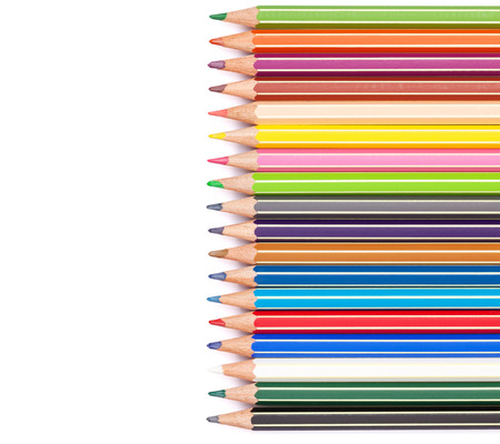 red pencil: Colorful pencils. Isolated on white background