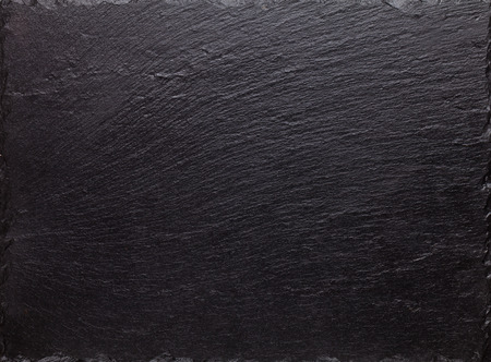 Black slate stone texture background Stock Photo