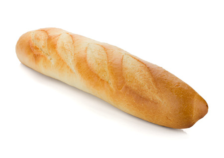 long loaf: Long loaf. Isolated on white background Stock Photo
