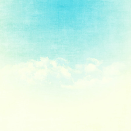 Blue sky and clouds abstract grunge background illustration with copy space Banco de Imagens