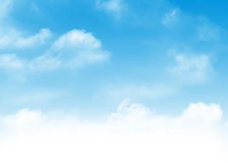 Cielo azul y nubes de fondo abstracto con copia espacio Foto de archivo - 41088095