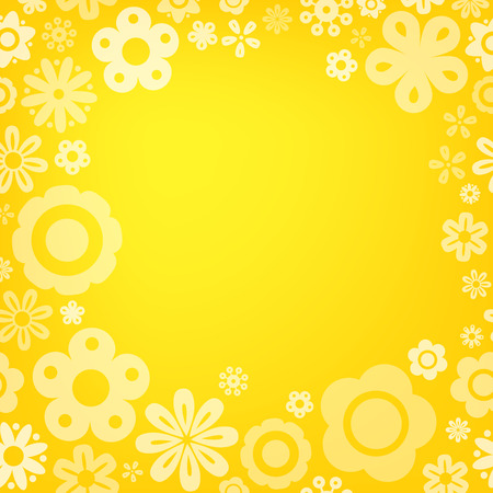 copy: Various flower frame background with copy space