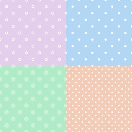 colores pastel: Polka dot coloridas de fondo sin fisuras patrón