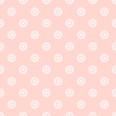 pink flower background: Flower on pink seamless pattern background