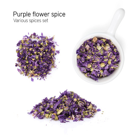 spice isolated: Purple flower spice. Isolated on white background