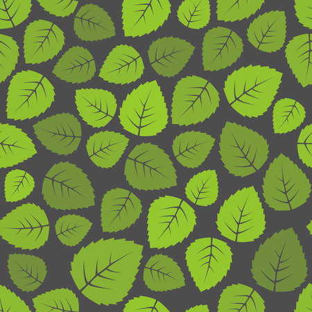 green leaves: Seamless green leaves pattern background