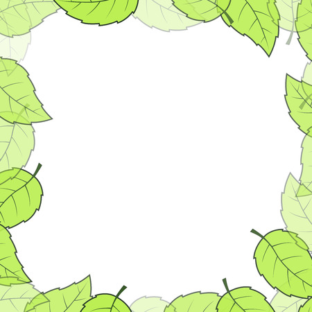 leaves frame: Deja el fondo del marco con copia espacio Vectores