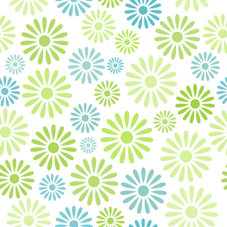 flower clip art: Various colorful flowers seamless pattern background