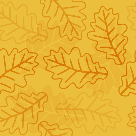 spring tree: Seamless autumn oak leaves pattern background Illustration