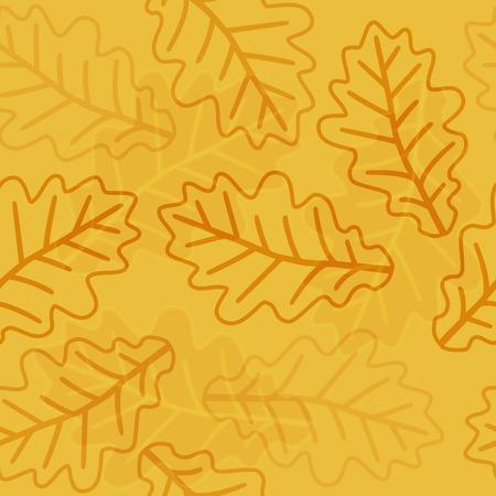 tree  forest: Seamless autumn oak leaves pattern background Illustration