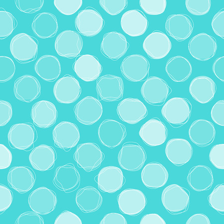 blue circles: Seamless blue circles pattern background