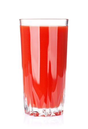 fruit background: Fresh vegetable smoothie. Tomato juice. Isolated on white background Stock Photo