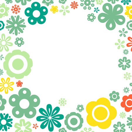 background frame: Various flower frame background with copy space