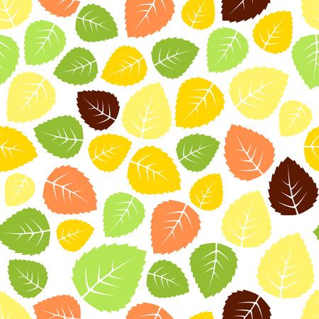 hojas de colores: Seamless colorido Hojas de fondo patr�n