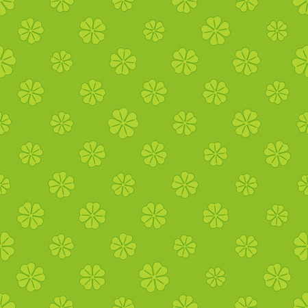 patrick: St Patrick clover seamless pattern background Illustration