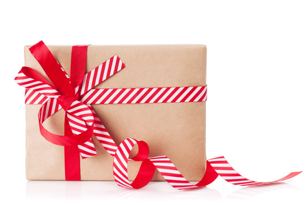 christmas gifts: Christmas gift box. Isolated on white background