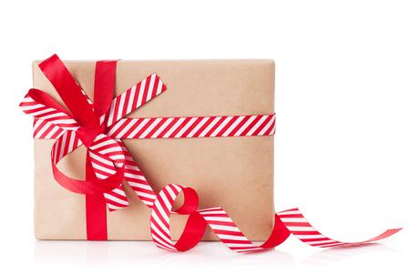 christmas gift box: Christmas gift box. Isolated on white background