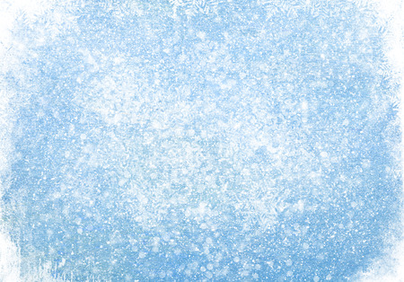 frozen winter: Blue wood texture with snow christmas background