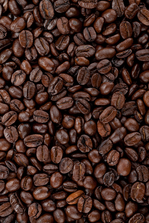 hires: Hires coffee beans closeup background
