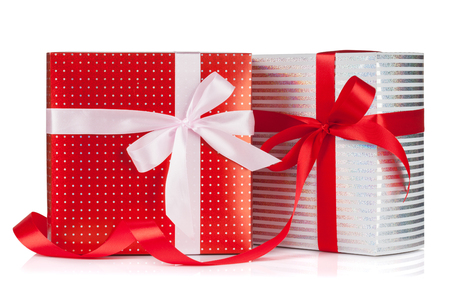 gift box: Two gift boxes. Isolated on white background