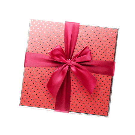 Gift box. Isolated on white background Фото со стока