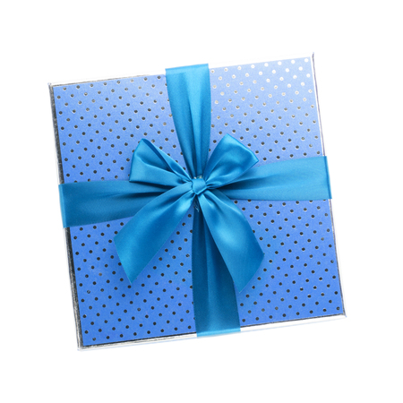 Gift box. Isolated on white background Stock Photo