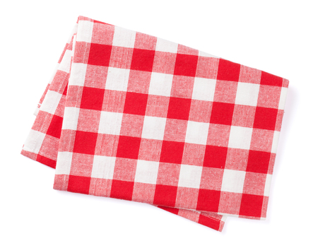 servilleta: Toalla de cocina. Aislado en el fondo blanco