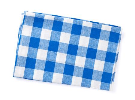 dishtowel: Kitchen towel. Isolated on white background