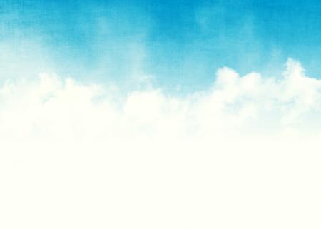 Il cielo blu e le nuvole sottraggono l'illustrazione della priorità bassa del grunge con lo spazio della copia