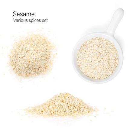Sesam. Isoliert auf weißem Hintergrund