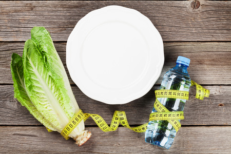 above water: Diet and fitness concept