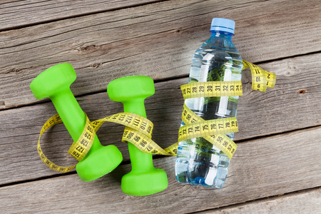 green water: Diet and fitness concept