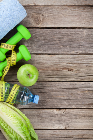 fruit in water: Diet and fitness concept background