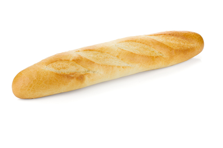 long loaf: Long loaf bread. Isolated on white background