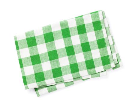 toallas: Toalla de cocina. Aislado en el fondo blanco