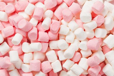 Colorful marshmallows macro texture background