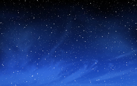 Deep night sky with many stars background Stock Photo