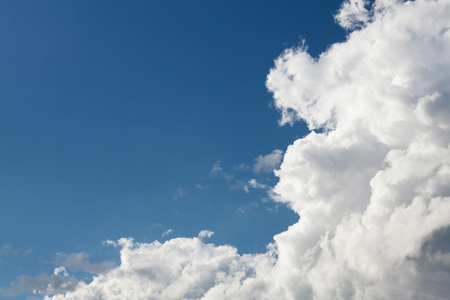 copies: Blue sky and clouds with copy space