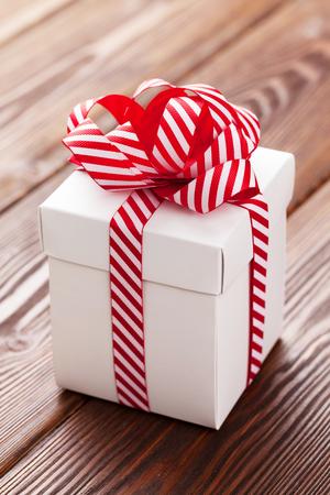 christmas gift box: Christmas gift box on wooden table