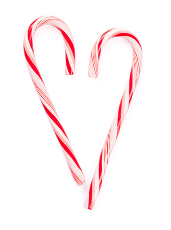 Christmas candy cane. Isolated on white background