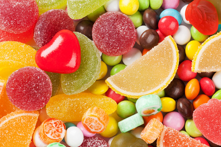 marmalade: Colorful candies, jelly and marmalade background