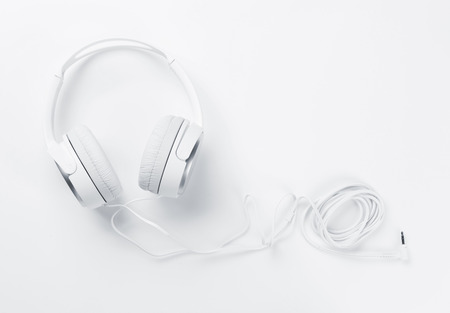 Headphones for music sound. View with copy space for your text