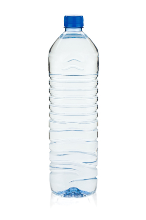 Soda water bottle. Isolated on white background