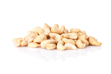 Cashew nuts. Isolated on white background