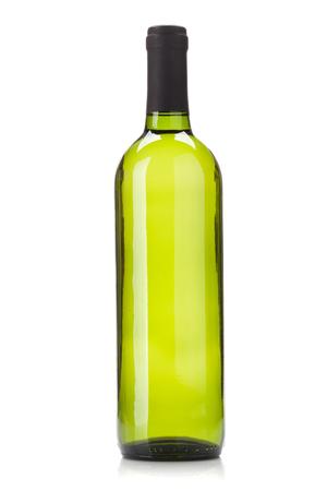 White wine bottle. Isolated on white background 写真素材