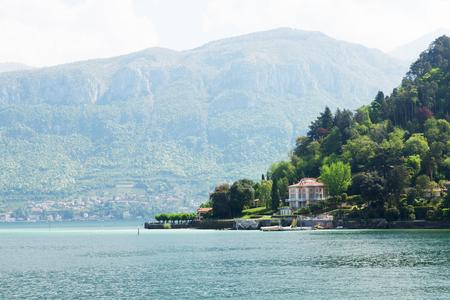 Sunny Lake Como landscape, Lombardy region, Italy, Europe Stock Photo