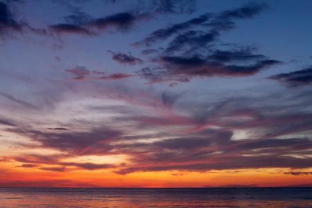 Beautiful sea sunset. Cloudscape over the sea Stock Photo