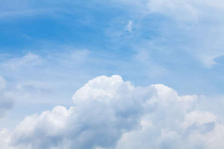 Blue sky and clouds backdrop texture